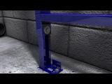 Установка системы инсталляции GROHE Rapid SL для подвесных унитазов.